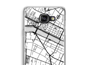 Zet een stadskaart op je  Samsung Galaxy A5 (2016) hoesje