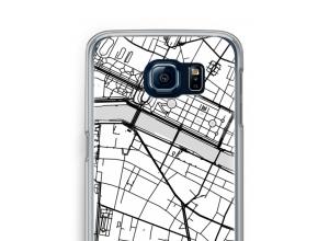 Zet een stadskaart op je  Samsung Galaxy S6 hoesje