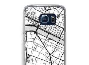 Zet een stadskaart op je  Galaxy S6 Edge hoesje