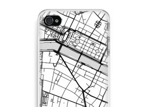 Zet een stadskaart op je  iPhone 4 / 4S hoesje