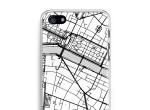 Zet een stadskaart op je  iPhone 5 / 5S / SE hoesje