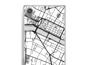 Zet een stadskaart op je  Xperia Z5 hoesje