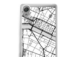 Zet een stadskaart op je  Xperia X Performance hoesje