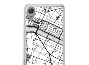 Zet een stadskaart op je  Xperia XA hoesje