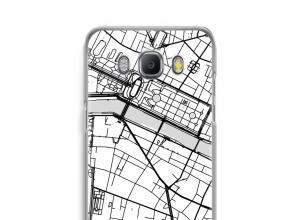 Zet een stadskaart op je  Galaxy J5 (2016) hoesje