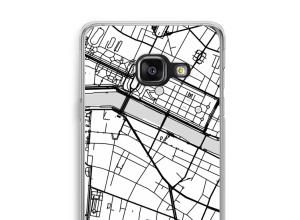 Zet een stadskaart op je  Galaxy A3 (2017) hoesje