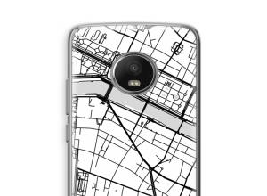 Zet een stadskaart op je  Moto G5 hoesje