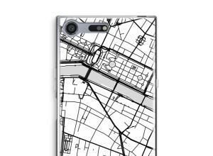 Zet een stadskaart op je  Xperia XZ Premium hoesje