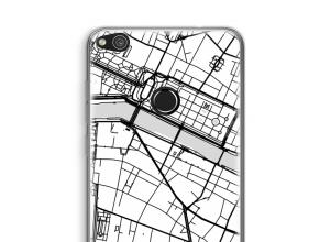 Zet een stadskaart op je  Huawei Ascend P8 Lite (2017) hoesje