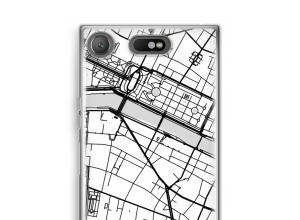 Zet een stadskaart op je  Xperia XZ1 Compact hoesje