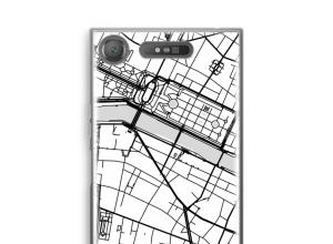 Zet een stadskaart op je  Xperia XZ1 hoesje