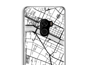 Zet een stadskaart op je  Xiaomi Mi Mix 2 hoesje