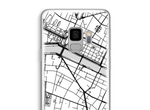 Zet een stadskaart op je  Galaxy S9 hoesje