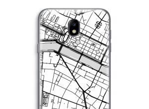 Zet een stadskaart op je  Galaxy J7 (2017) hoesje