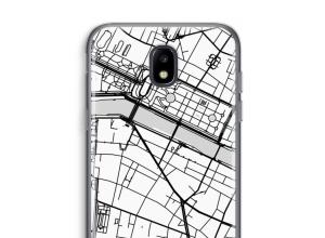 Zet een stadskaart op je  Galaxy J5 (2017) hoesje