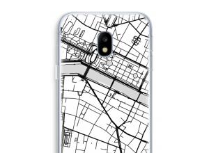 Zet een stadskaart op je  Galaxy J3 (2017) hoesje