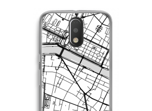 Zet een stadskaart op je  Moto G4 / G4 Plus hoesje