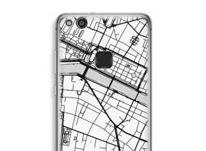 Zet een stadskaart op je  Ascend P10 Lite hoesje