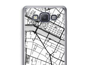 Zet een stadskaart op je  Galaxy A3 (2015) hoesje