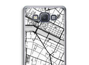Zet een stadskaart op je  Galaxy A5 (2015) hoesje