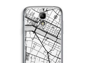 Zet een stadskaart op je  Galaxy S4 mini hoesje