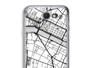 Zet een stadskaart op je  Galaxy J5 Prime (2017) hoesje