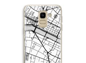 Zet een stadskaart op je  Samsung Galaxy J6 (2018) hoesje