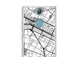 Zet een stadskaart op je  Xperia XA2 hoesje