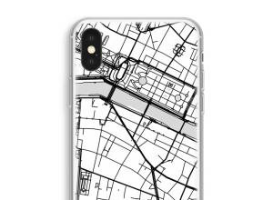 Zet een stadskaart op je  iPhone XS hoesje