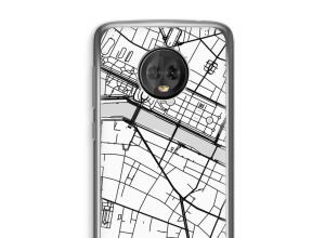 Zet een stadskaart op je  Moto G6 Plus hoesje