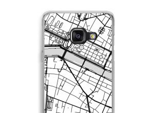 Zet een stadskaart op je  Galaxy A3 (2016) hoesje