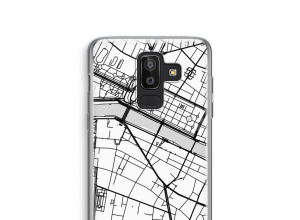 Zet een stadskaart op je  Galaxy J8 (2018) hoesje