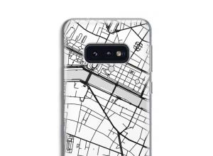Zet een stadskaart op je  Galaxy S10 hoesje