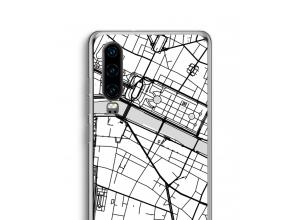 Zet een stadskaart op je  Huawei P30 hoesje