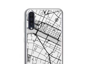 Zet een stadskaart op je  Galaxy A50 hoesje