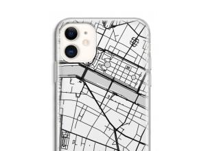 Zet een stadskaart op je  iPhone 11 hoesje
