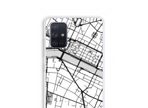 Zet een stadskaart op je  Galaxy A71 hoesje