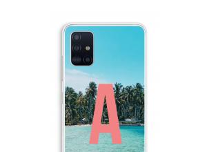 Maak zelf je Galaxy A51 hoesje met je monogram