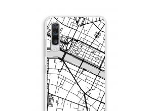 Zet een stadskaart op je  Galaxy A70 hoesje