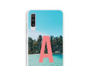 Maak zelf je Galaxy A70 hoesje met je monogram