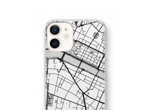 Zet een stadskaart op je  iPhone 12 mini hoesje