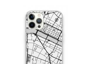 Zet een stadskaart op je  iPhone 12 Pro Max hoesje