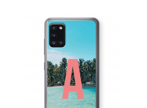 Maak zelf je Galaxy A31 hoesje met je monogram