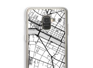 Zet een stadskaart op je  Galaxy A8 (2018) hoesje