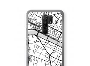 Zet een stadskaart op je  Xiaomi Redmi 9 hoesje