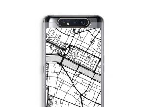 Zet een stadskaart op je  Galaxy A80 hoesje