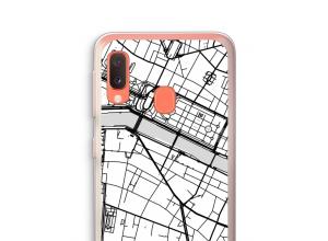 Zet een stadskaart op je  Galaxy A20e hoesje