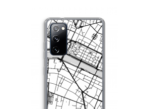 Zet een stadskaart op je  Galaxy S20 FE / S20 FE 5G hoesje