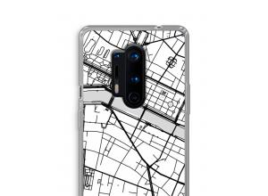 Zet een stadskaart op je  OnePlus 8 Pro hoesje