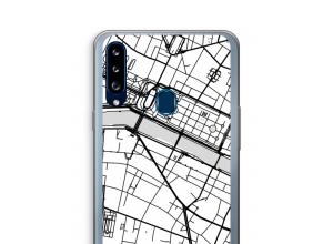 Zet een stadskaart op je  Galaxy A20s hoesje